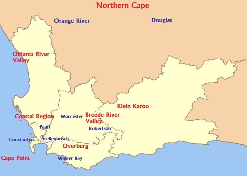 The wine regions of South Africa-Terroir